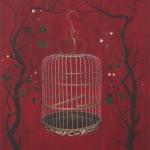 royal birdcage - 80x88cm - olieverf op doek