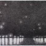 sterrennacht boven Arles - 56x45,6cm - pen op papier - 2015
