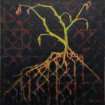 patroon - olieverf op doek - 41 x 41 cm