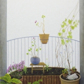 Bodo´s balkon -118x188cm - olieverf op doek