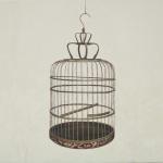 Royal birdcage - 80 x88cm - olieverf op linnen op katoen