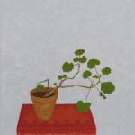 geranium voor Bas Lobik- 40x45cm - olieverf op linnen