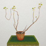 tikoi's geranium - 80x88cm - olieverf op doek