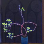 Marc´s-geranium -  120x140cm - olieverf op doek