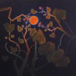 geranium meteoor 54 - 108x118cm - olieverf op doek - 2015