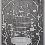 royal birdcage - 68x88cm - pigmentliner op papier