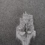 moraira 50x32cm - pigmentliner op papier