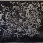 geranium meteoor 37 - 120 x 109cm - pen op papier -2014