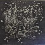 geranium meteoor 38 - 126,5 x 123,5cm - pen op papier - 2014