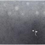 geranium meteoor 45 - 1445x129cm - pen op papier - 2014