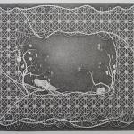 Twee schedels - 116,5x146.5cm - pen op papier - 2016